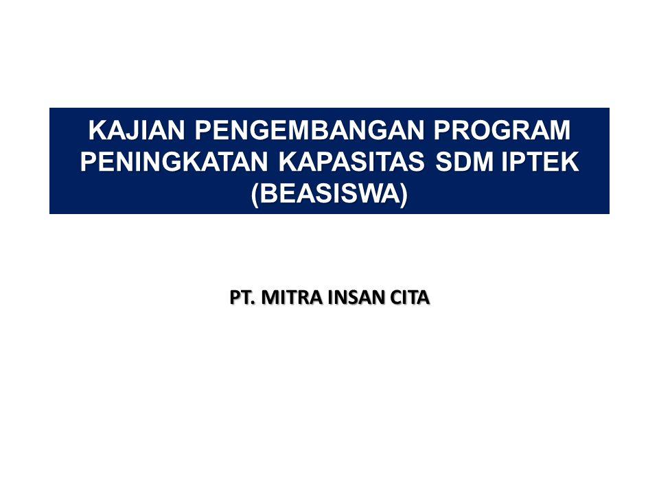 KAJIAN PENGEMBANGAN PROGRAM PENINGKATAN KAPASITAS SDM IPTEK (BEASISWA) PT. MITRA INSAN CITA