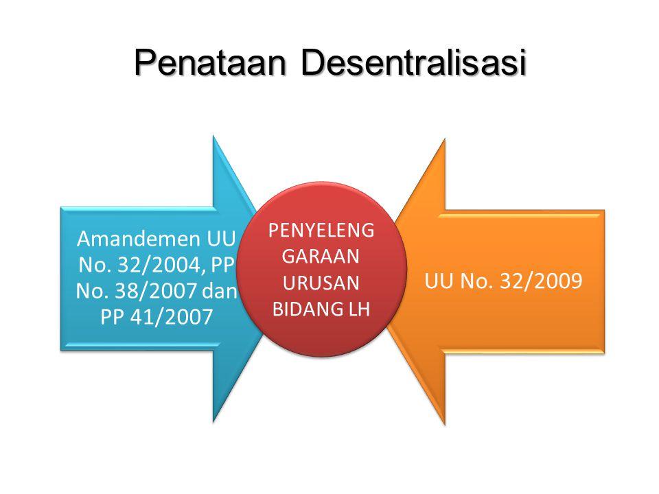 Penataan Desentralisasi Amandemen UU No.32/2004, PP No.