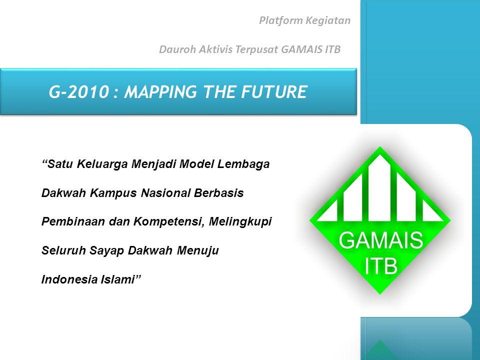 """Platform Kegiatan Dauroh Aktivis Terpusat GAMAIS ITB G-2010 : MAPPING THE FUTURE """"Satu Keluarga Menjadi Model Lembaga Dakwah Kampus Nasional Berbasis"""