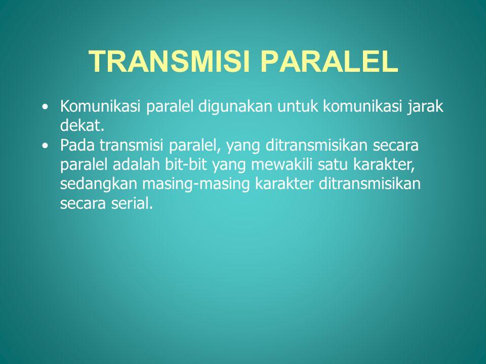 TRANSMISI PARALEL Komunikasi paralel digunakan untuk komunikasi jarak dekat.