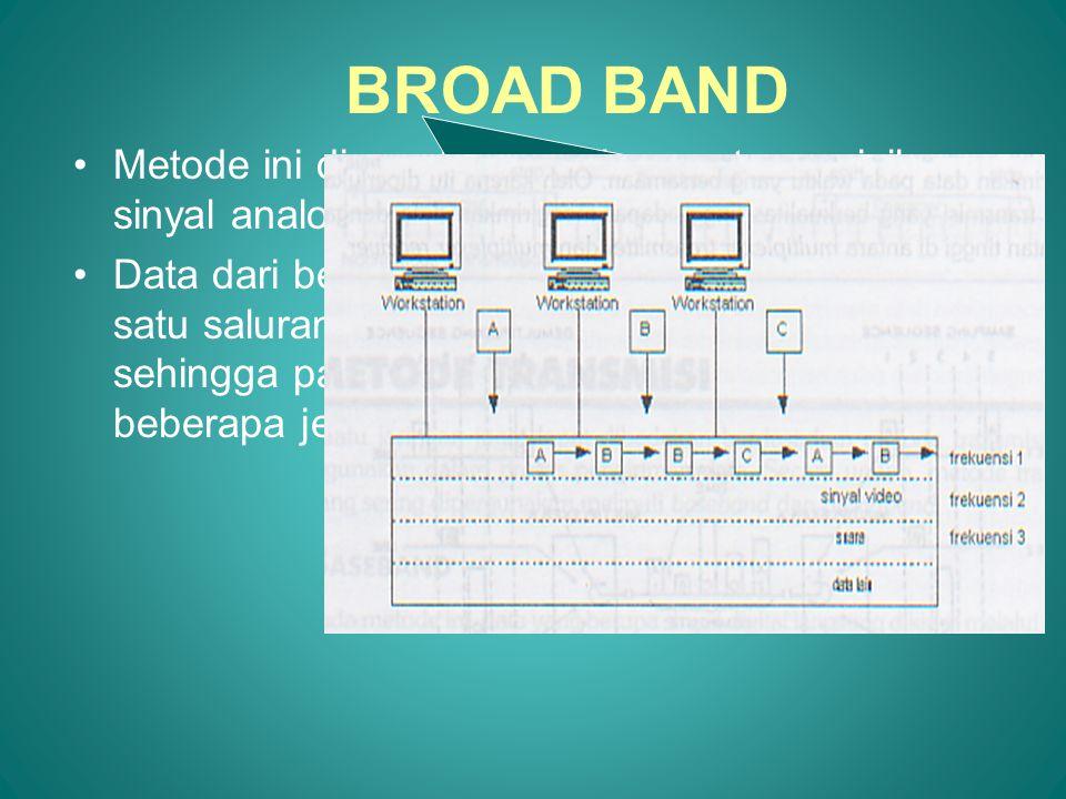 Keuntungan Sistem Transmisi BroadBand adalah: 1.