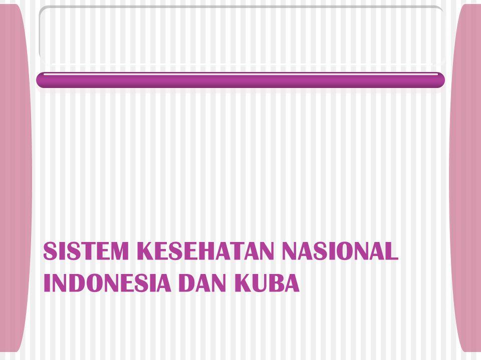 SISTEM KESEHATAN NASIONAL INDONESIA DAN KUBA