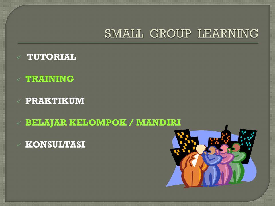 TUTORIAL TRAINING PRAKTIKUM BELAJAR KELOMPOK / MANDIRI KONSULTASI