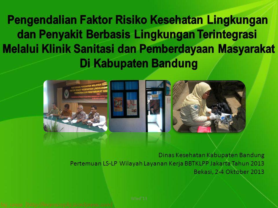 Dinas Kesehatan Kabupaten Bandung Pertemuan LS-LP Wilayah Layanan Kerja BBTKLPP Jakarta Tahun 2013 Bekasi, 2-4 Oktober 2013 Wied 13