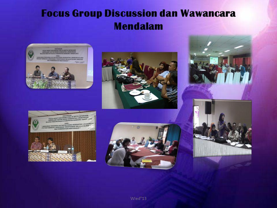 Focus Group Discussion dan Wawancara Mendalam Wied 13