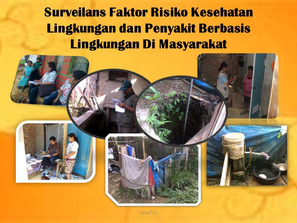 Surveilans Faktor Risiko Kesehatan Lingkungan dan Penyakit Berbasis Lingkungan Di Masyarakat Wied 13