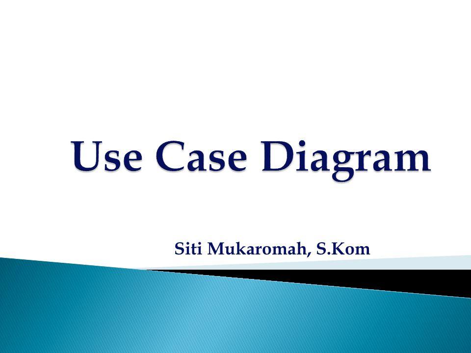  Model yang menggambarkan requirement software dalam bentuk use case - use case  Use case model terdiri dari satu atau beberapa use-case diagram