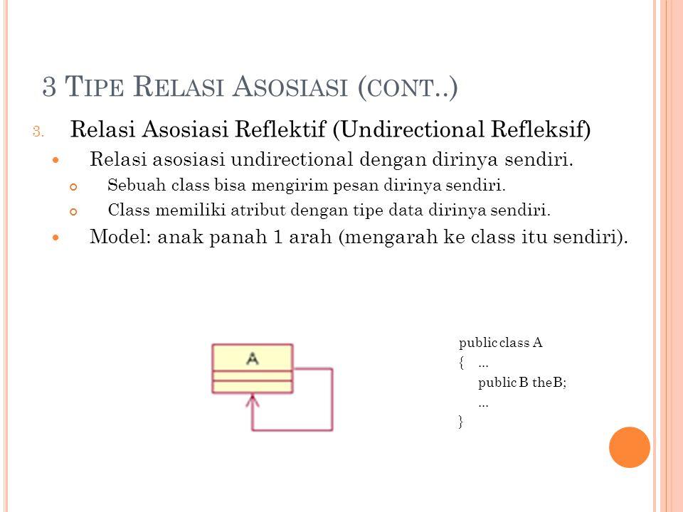 3 T IPE R ELASI A SOSIASI ( CONT..) 3.