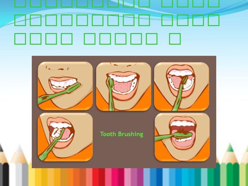 Bagaimana cara menggosok gigi yang benar ?