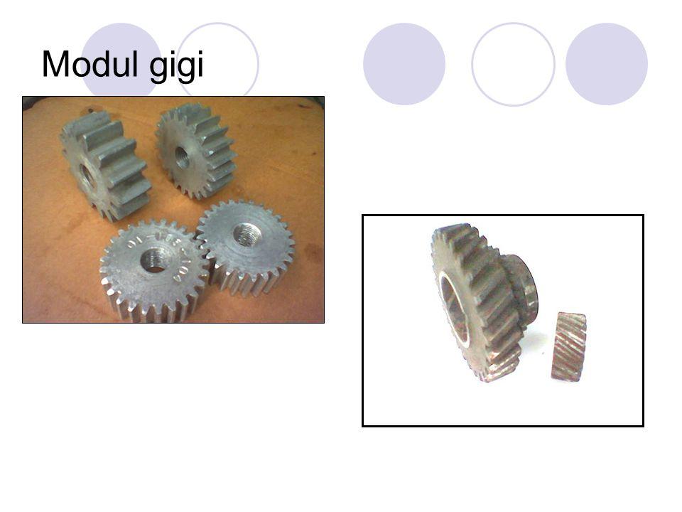Modul & Pressure Angle Modul gigi besar Sudut tekanan kecil (14 ½ 0 ) Modul gigi sedangSudut tekanan sedang (20 0 ) Modul gigi kecilSudut tekanan besar (25 0 )