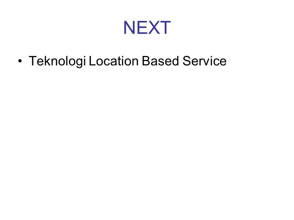 NEXT Teknologi Location Based Service