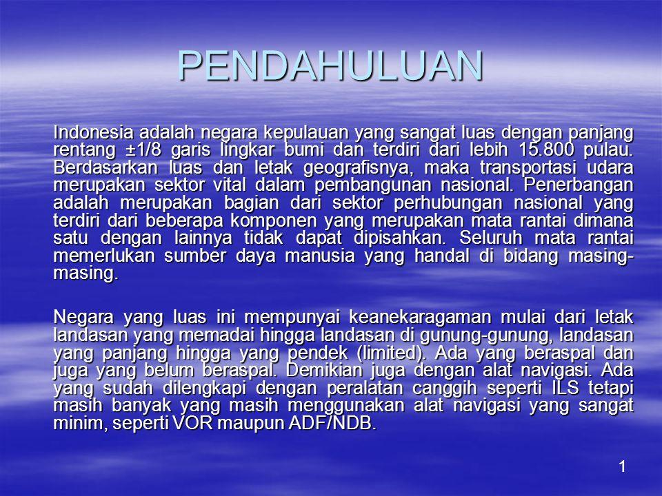 PENDAHULUAN Indonesia adalah negara kepulauan yang sangat luas dengan panjang rentang ±1/8 garis lingkar bumi dan terdiri dari lebih 15.800 pulau.