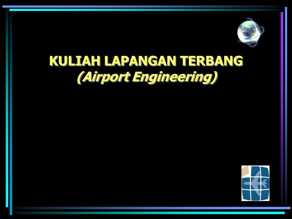 SISI DARAT DAN UDARA BANDARA (air side & land side airport) Bagian dari sistem bandara terdapat 2 bagian : –Sisi darat (land side) –Sis Udara (air side) Pada bagian sisi darat (land side) terdapat : –Area parkir terminal & lalu lintas darat –Sistem jalan masuk ke terminal –Gedung terminal Pada Bagian sisi udara (air side) terdapat : –Area parkir pesawat (apron) / pintu gerbang (gate) –Landas hubung (Taxiway) –Landas pacu (runway)