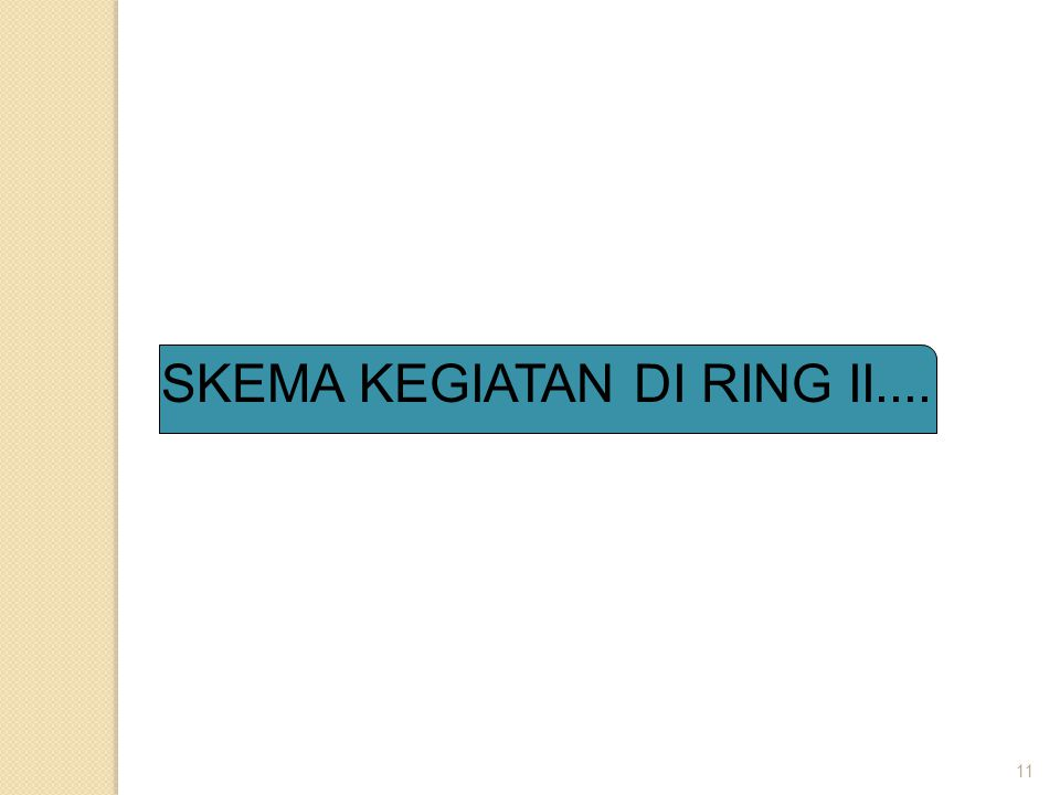 11 SKEMA KEGIATAN DI RING II....