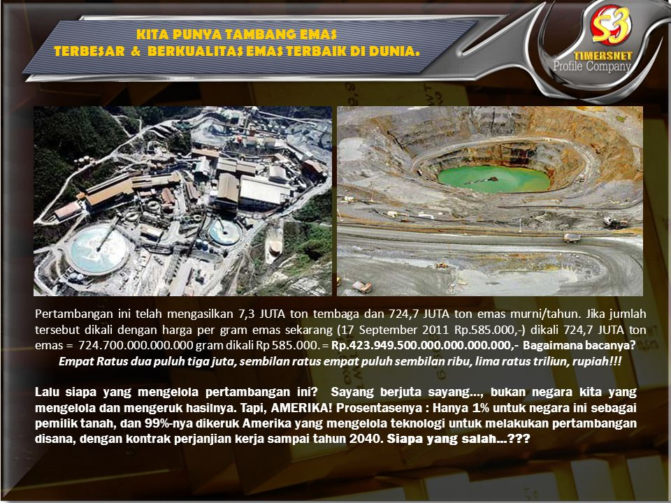 ONH TH 1997 Rp 7.000.000 Harga Logam Mulia = Rp 23.000/gram Artinya th 1997 Butuh Sekitar 305 gram emas untuk ONH ( 305 gram x 23.000 = Rp.