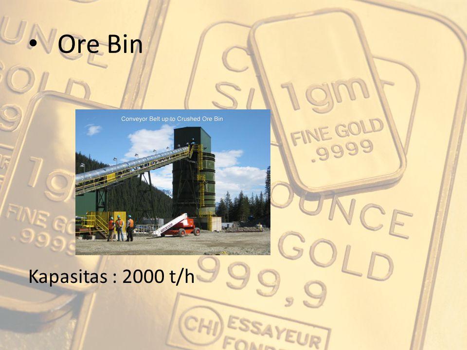 Ore Bin Kapasitas : 2000 t/h