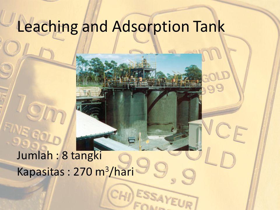 Leaching and Adsorption Tank Jumlah : 8 tangki Kapasitas : 270 m 3 /hari