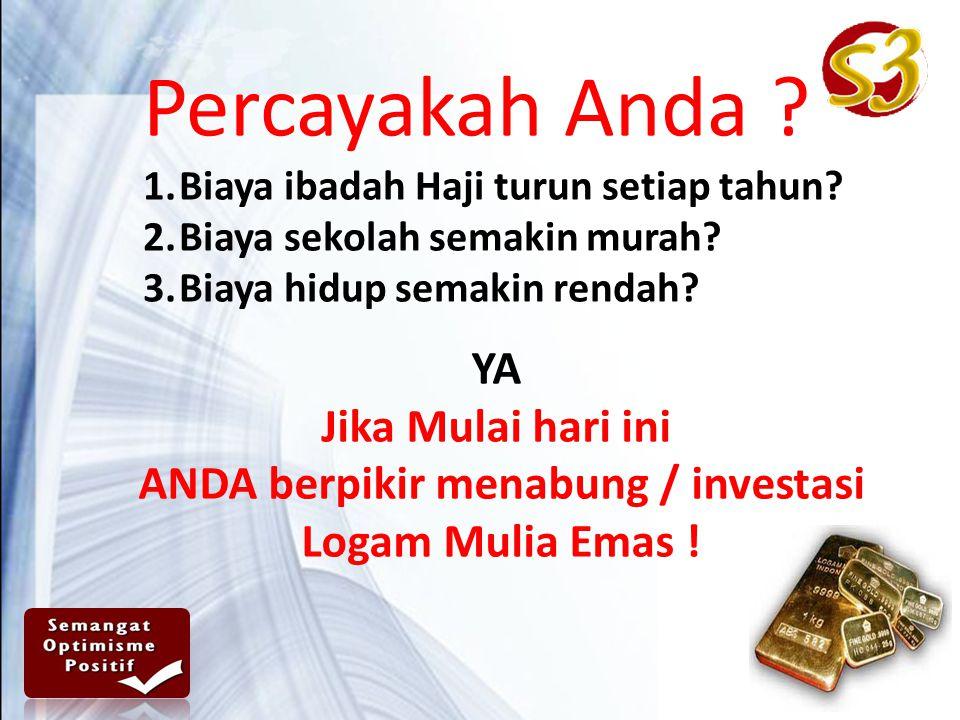 Percayakah Anda .1.Biaya ibadah Haji turun setiap tahun.