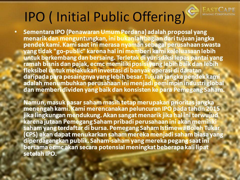 IPO ( Initial Public Offering) Sementara IPO (Penawaran Umum Perdana) adalah proposal yang menarik dan menguntungkan, ini bukanlah bagian dari tujuan