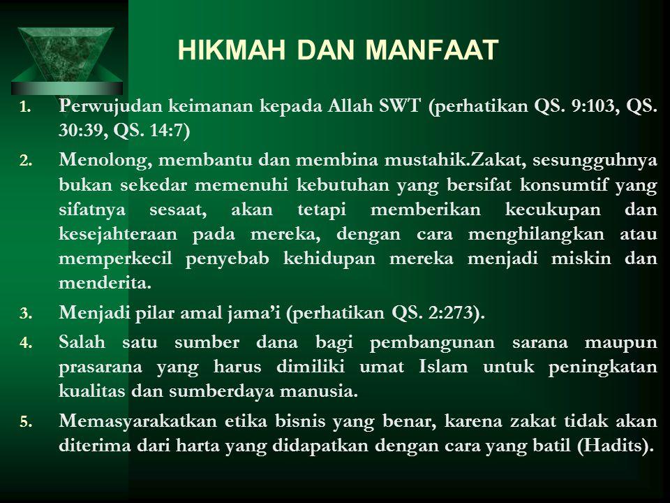 URGENSI ZAKAT Zakat adalah maaliyah ijtimaiyyah yang memiliki posisi yang sangat penting, strategis dan menentukan, baik dari sisi ajaran maupun dari
