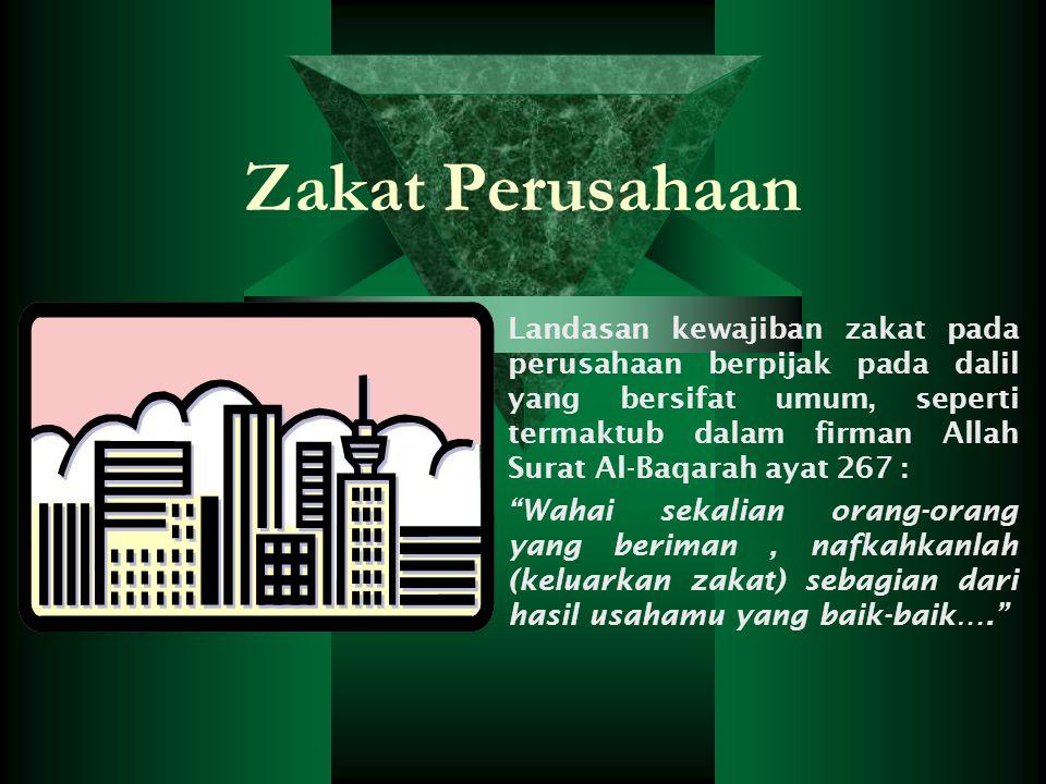 Zakat Profesi Zakat profesi adalah zakat atas penghasilan yang diperoleh dari pengembangan potensi diri yang dimiliki seseorang dengan cara yang sesua