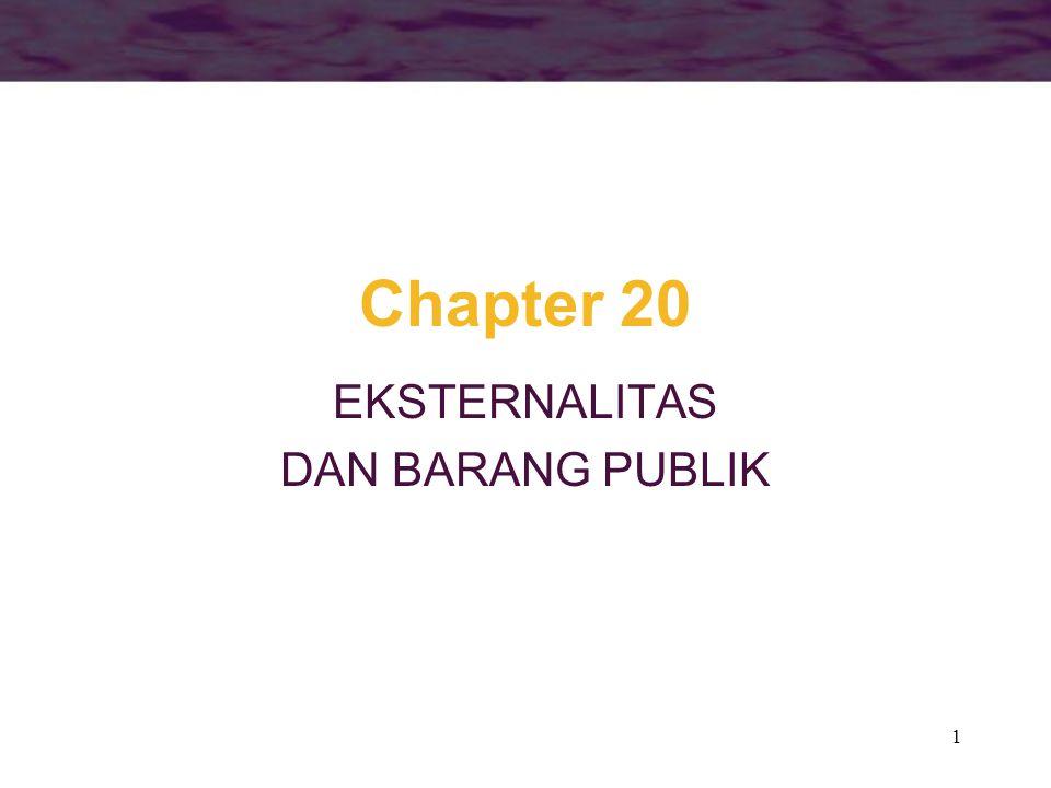 1 Chapter 20 EKSTERNALITAS DAN BARANG PUBLIK