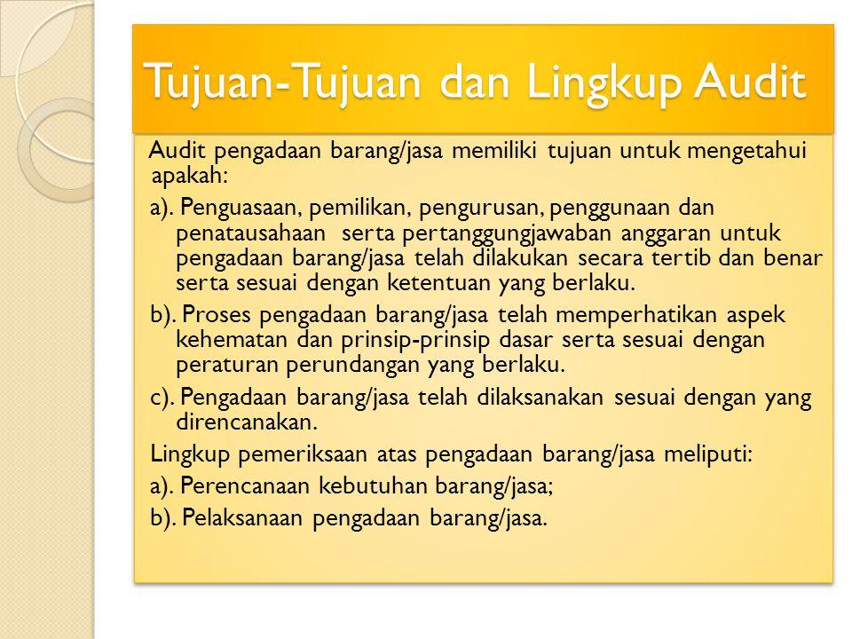 Pemeriksaan atas Prosedur Pelaksanaan 1).