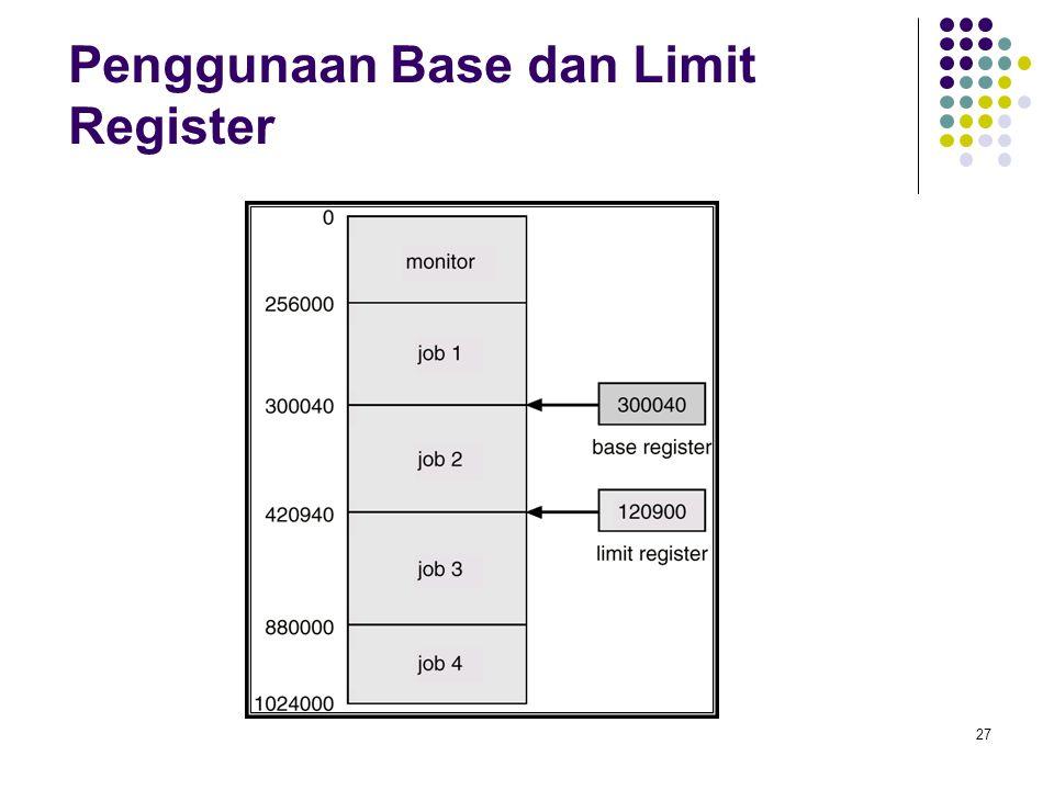 27 Penggunaan Base dan Limit Register
