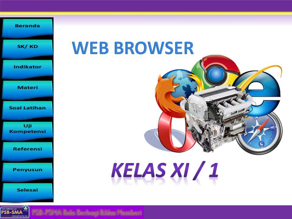 Menggunakan Internet untuk keperluan informasi dan komunikasi STANDAR KOMPETENSI mendeskripsikan cara akses internet mempraktikkan akses internet menggunakan Web Browser untuk memperoleh, menyimpan dan mencetak informasi KOMPETENSI STANDAR