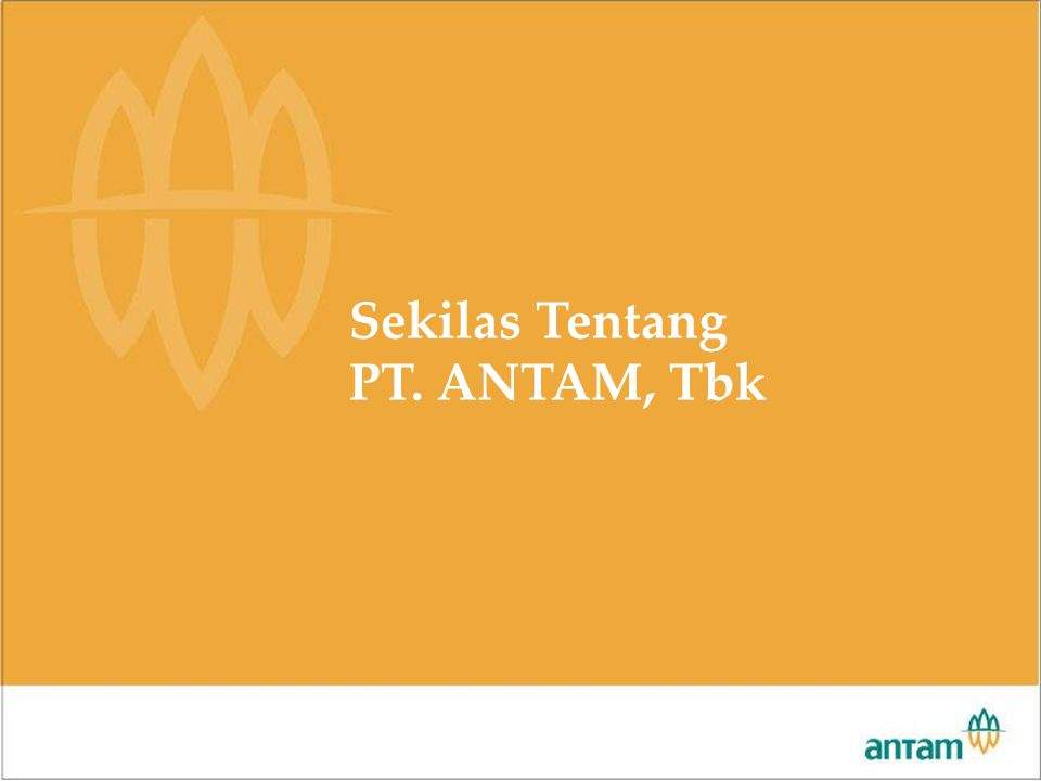 Rapat Pimpinan 2007 Sekilas Tentang PT. ANTAM, Tbk