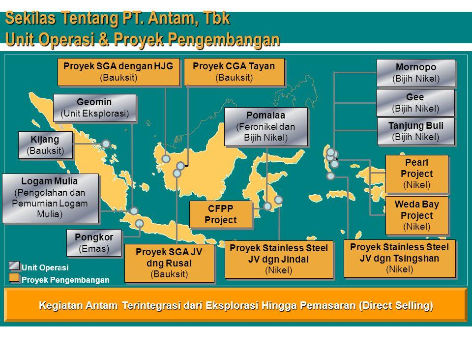 Strategi Pengembangan  Biaya Produksi & Harga Penjualan Ferronikel, Penambangan Saprolite dan Pengolahan Emas Ferronikel, Penambangan Saprolite dan Pengolahan Emas