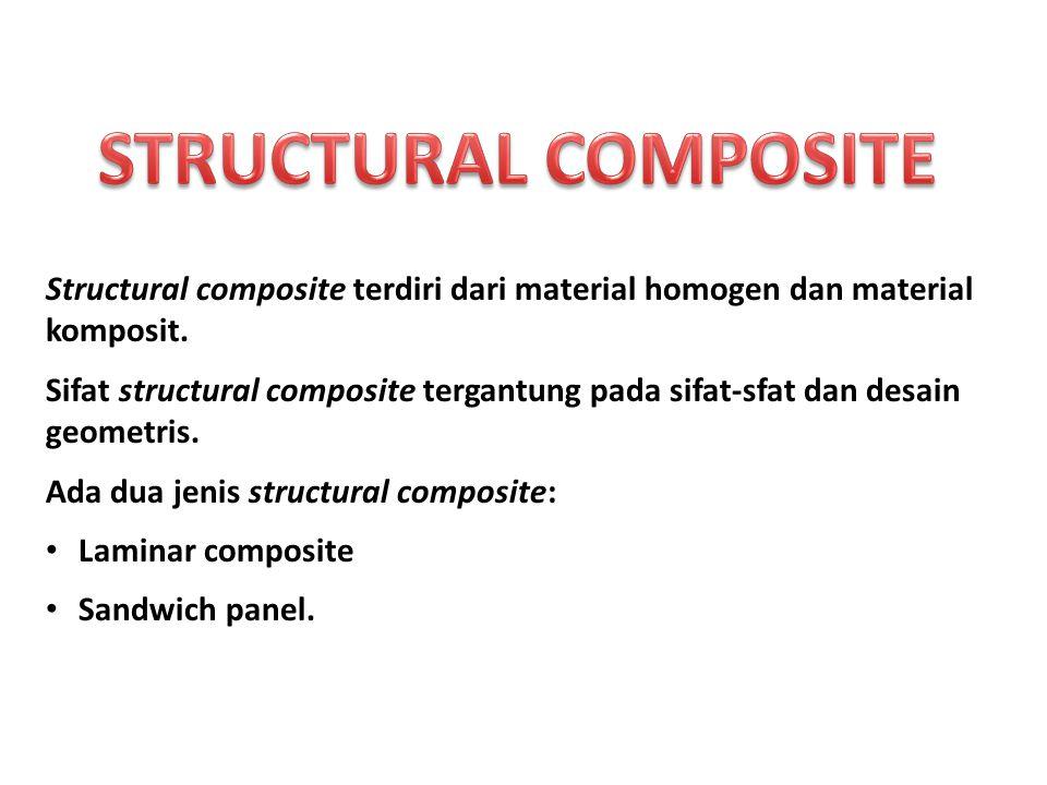Structural composite terdiri dari material homogen dan material komposit. Sifat structural composite tergantung pada sifat-sfat dan desain geometris.