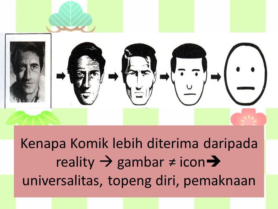 Kenapa Komik lebih diterima daripada reality  gambar ≠ icon  universalitas, topeng diri, pemaknaan