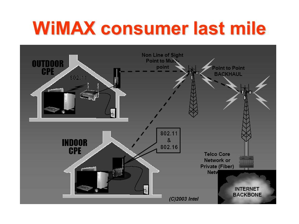 WiMAX consumer last mile