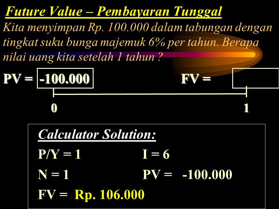 0 1 PV = FV =