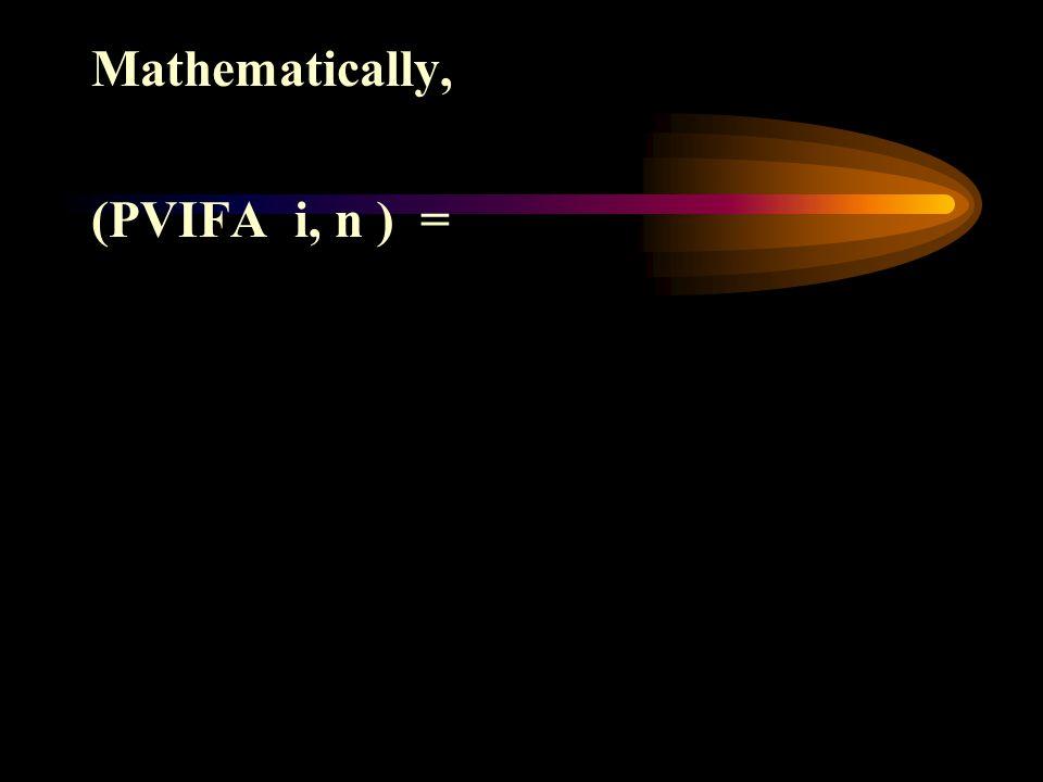 Mathematically,