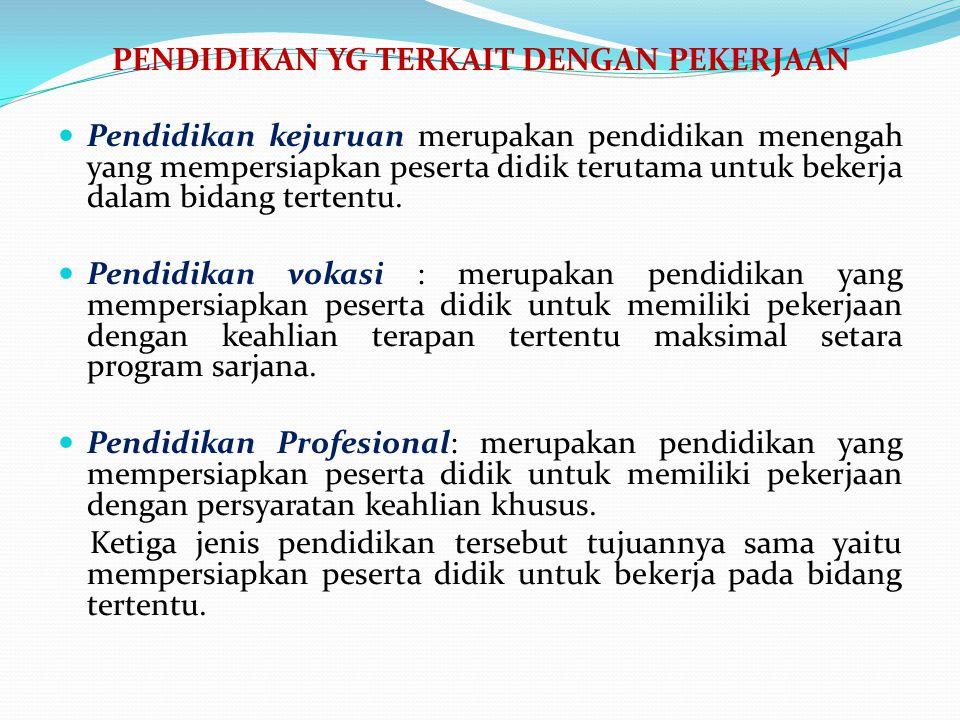 FUNGSI PENDIDIKAN 1. Public service 2. Produsen tenaga kerja 3. Human invesment, -- leading sector