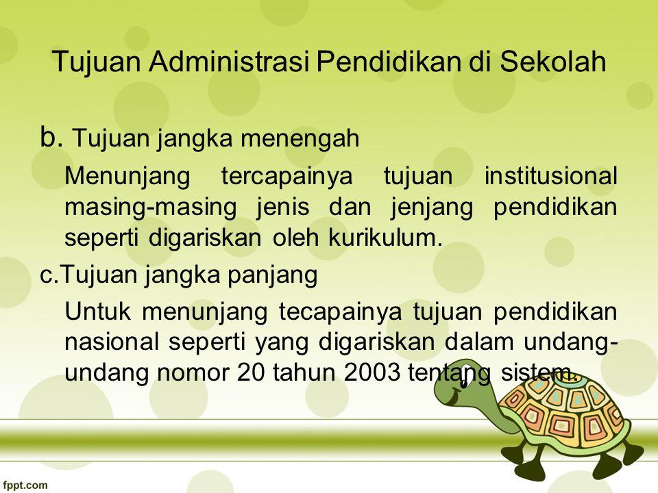 Tujuan Administrasi Pendidikan di Sekolah b.