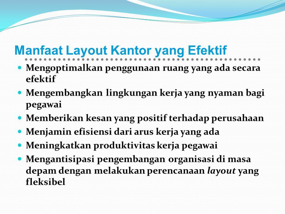 Manfaat Layout Kantor yang Efektif Mengoptimalkan penggunaan ruang yang ada secara efektif Mengembangkan lingkungan kerja yang nyaman bagi pegawai Mem