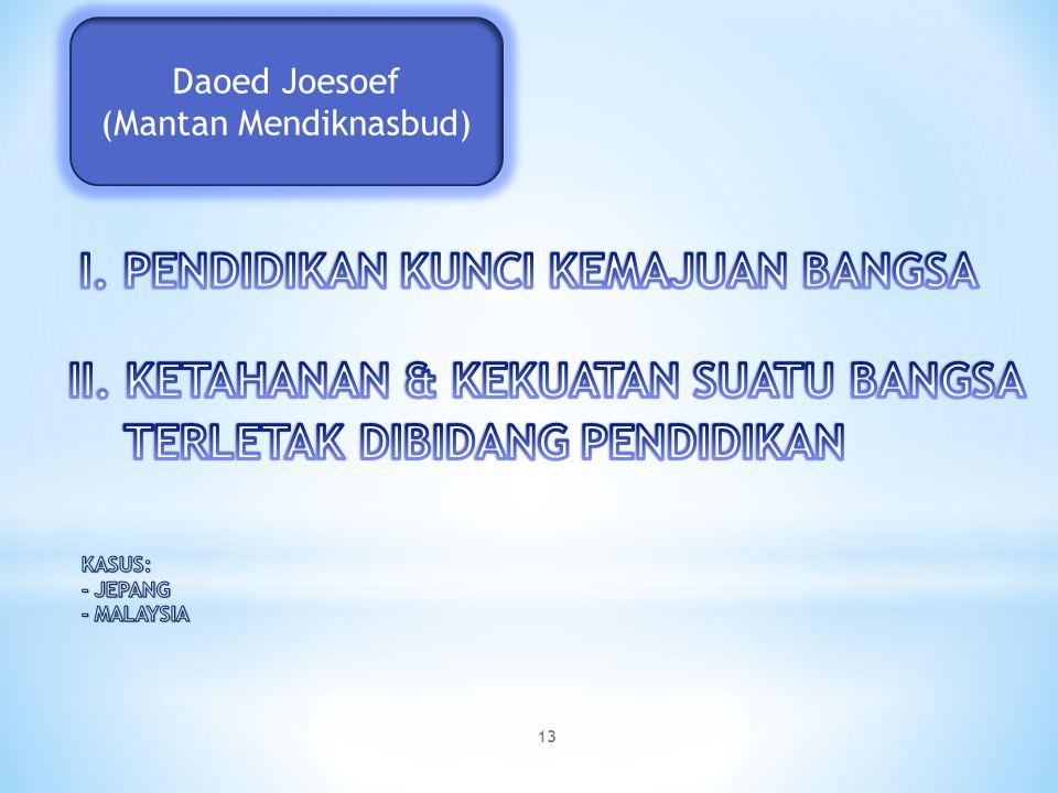 Daoed Joesoef (Mantan Mendiknasbud) 13