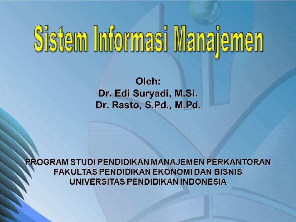 Oleh: Dr. Edi Suryadi, M.Si. Dr. Rasto, S.Pd., M.Pd. PROGRAM STUDI PENDIDIKAN MANAJEMEN PERKANTORAN FAKULTAS PENDIDIKAN EKONOMI DAN BISNIS UNIVERSITAS