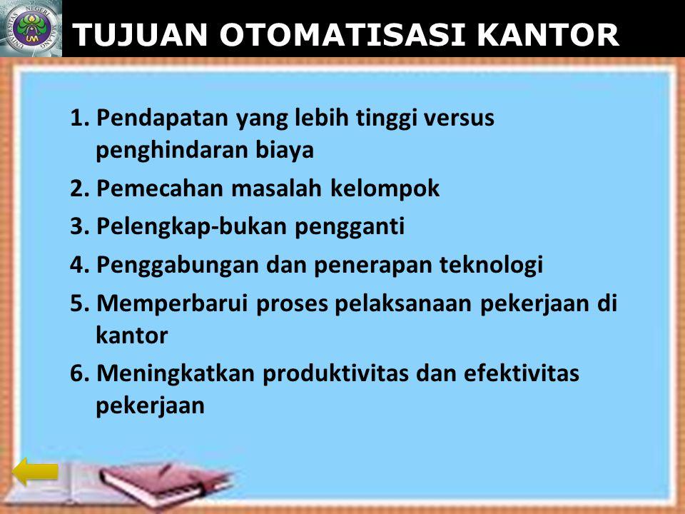 www.themegallery.com TUJUAN OTOMATISASI KANTOR 1.