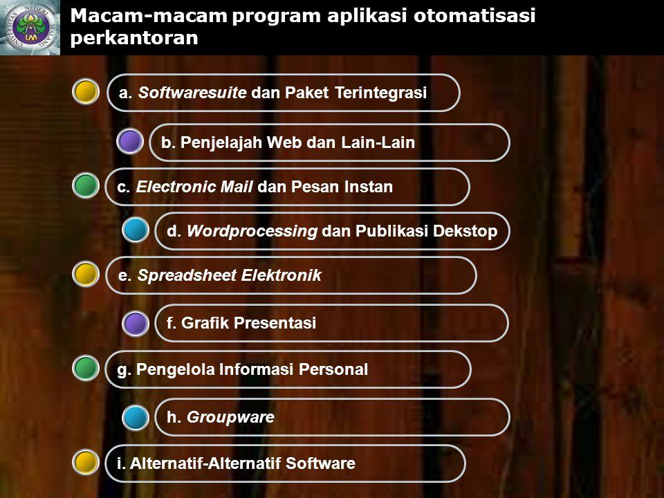 www.themegallery.com Macam-macam program aplikasi otomatisasi perkantoran f.