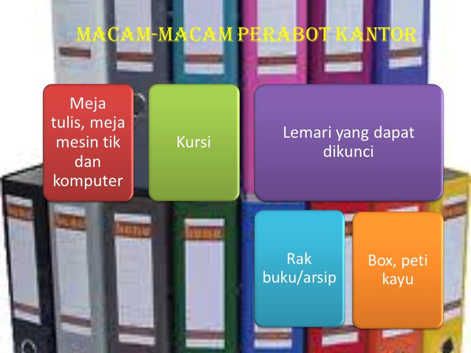 Macam-macam peralatan yang termasuk mesin-mesin kantor Mesin kartu berulang Mesin jumlahMesin hitungMesin tulisMesin penggandaMesin label Mesin pembuk