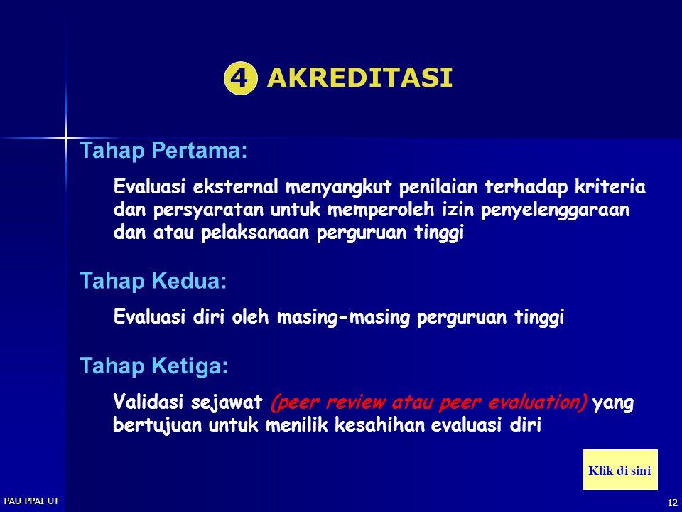 PAU-PPAI-UT 11 Akuntabilitas keberhasilan Akuntabilitas profesional Akuntabilitas sistem JENIS AKUNTABILITAS Klik di sini