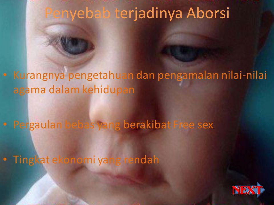 Resiko Aborsi … Resiko kesehatan & keselamatan fisik : 1.Mengalami kemandulan 2.Menderita kanker rahim 3.Dan menyebabkan kematian Resiko gangguan psikologis : Pada dasarnya seorang wanita yang melakukan aborsi akan mengalami hal-hal seperti berikut ini: a.