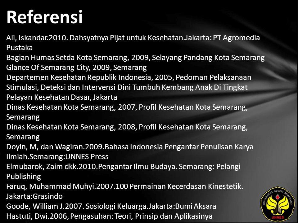 Referensi Ali, Iskandar.2010.