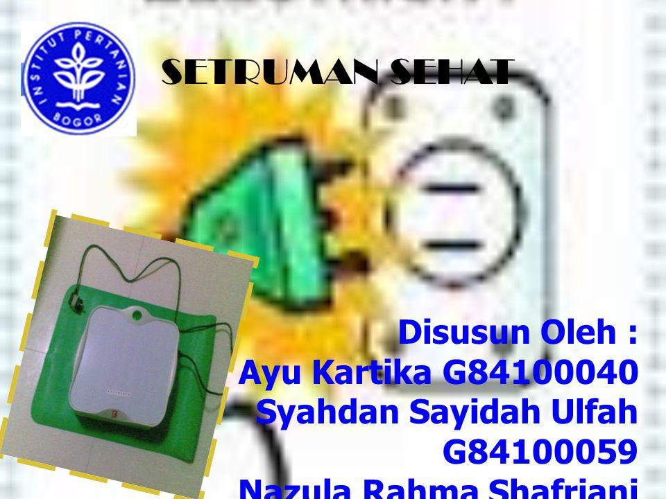 SETRUMAN SEHAT Disusun Oleh : Ayu Kartika G84100040 Syahdan Sayidah Ulfah G84100059 Nazula Rahma Shafriani G84100061