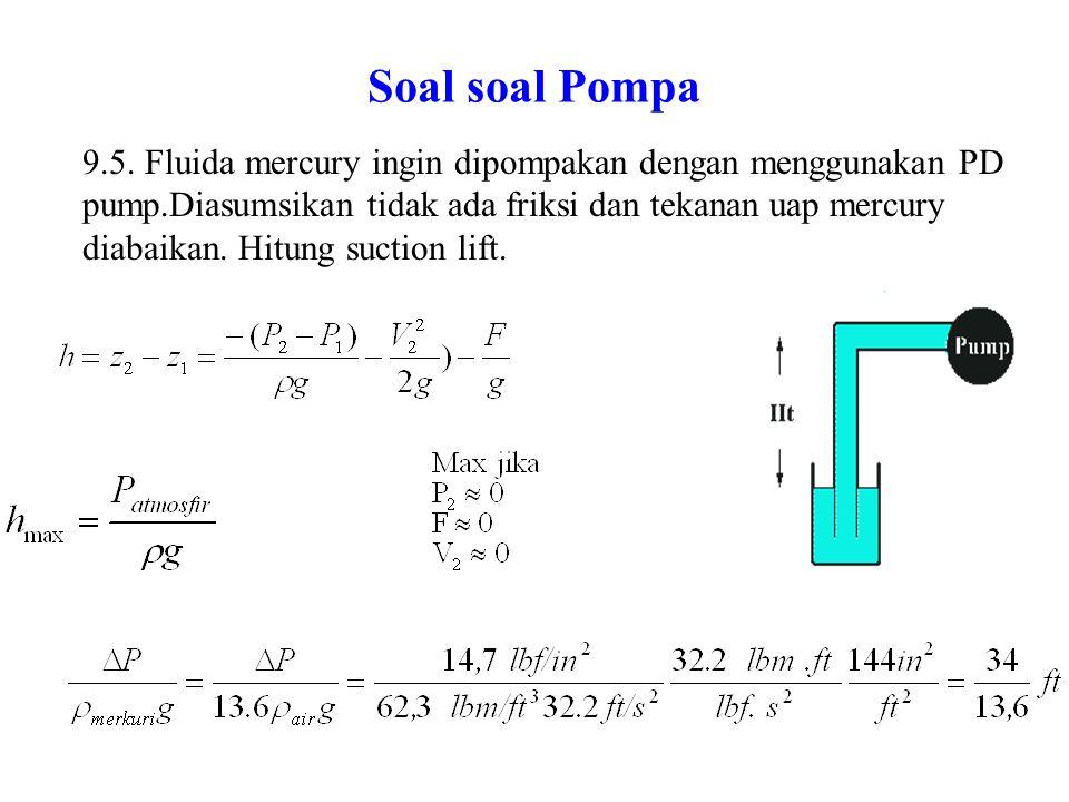 Soal soal Pompa 9.6 Suatu pompa sentrifugal dioperasikan pada 1800 rpm.