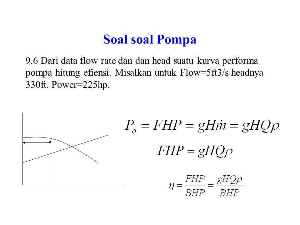 Soal soal Pompa 9.5.Suatu pompa sentrifugal digunakan untuk memompa mercury.